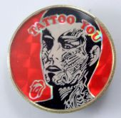 The Rolling Stones - 'Tattoo You' Prismatic Crystal Badge